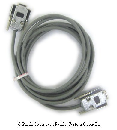 03045 Specialized Null Modem Cable For Modem Connection Control. DB9 Female To DB9 Female. Precidia Technologies Cable. (Custom)