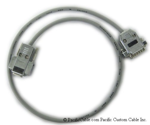 1784-CAK PC to 1785-KE Null Modem Cable. DB9 Female to DB15 Male. Allen Bradley Cable. (Custom)