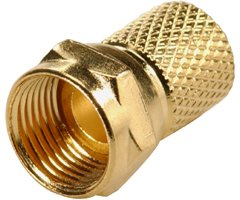 200-043 F Male (Plug), Twist on, for RG6 Gold, 10 Pack