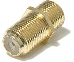 200-051 F Coupler, F Female (Jack) To F Female (Jack), 5 Pack