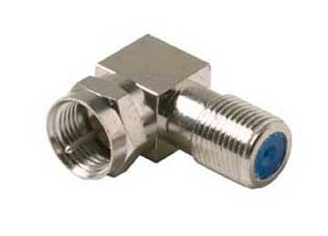200-106 F Angle Adapter 2.5Ghz F Female (Jack) To F Male (Plug)