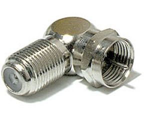200-107 F Angle Adapter F Female (Jack) To F Male (Plug)