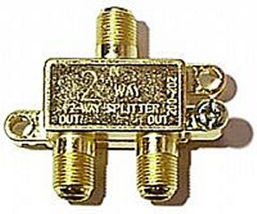 200-212 2-Way F Splitter Gold