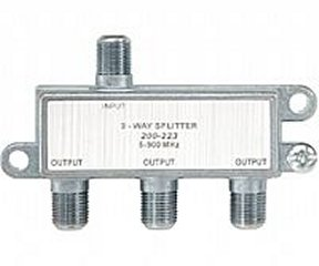 200-223 3-Way F Splitter Full Size