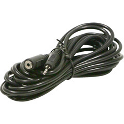 252-662 12 Ft. 2.5mm Stereo Male (Plug) To 2.5mm Stereo Female (Jack)