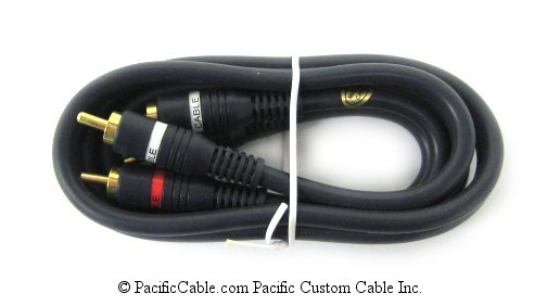 254-225BL Python Stereo Audio Cable with Gold RCA Male (Plug) Connectors. 25 Ft.