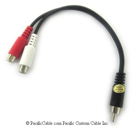 255-010 6-Inch 2 RCA Female (Jack) to RCA Male (Plug)