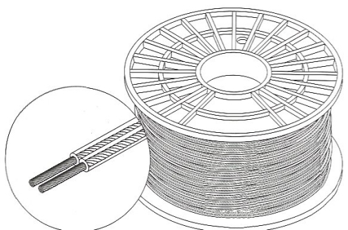 255-314CL - 1000 Ft  14-Gauge Speaker Wire Clear