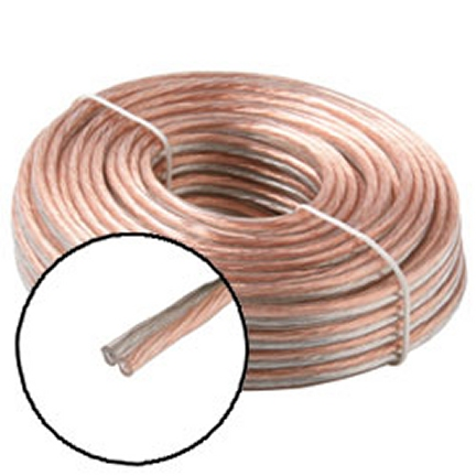 255-818CL 25 Ft. 18-Gauge Speaker Wire Coiled Clear