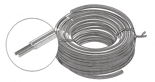 255-818CL - 25 Ft  18-Gauge Speaker Wire Coiled Clear