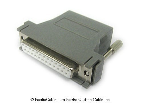 25FRJ45PD01 DB25 Female To RJ45 Female Adapter for DS74, V74, or V75 to BNP Port Equipment. BayTech Cable. (Custom)