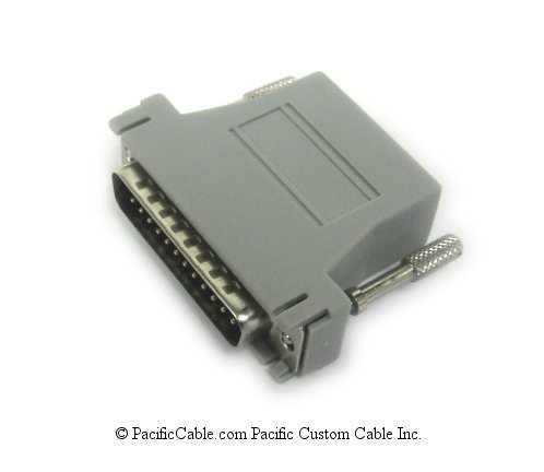 25MRJ45PR-1 DB25 Male to RJ45 Female Adapter for DS74, V74, or V75 to Bay Networks BLN or Larscom Access T1500. BayTech Cable. (Custom)
