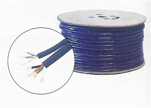 300-770PR 1 Cat5E Twisted Pair and 16/4 Speaker Wire, Purple, 500 Ft.
