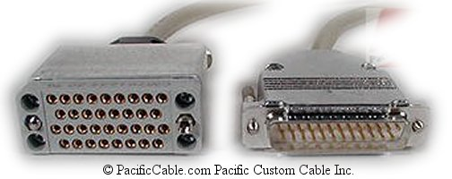 3100-F1-570 Paradyne DB25 Male - V35 Female. EIA-530A to V35 Adapter Cable 1 Ft. (Custom)