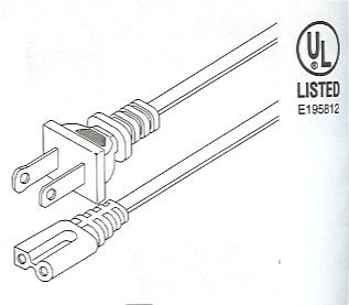 505-395_Drawing Polarized Replacement Cord UL. Type A Male To C8 Connector.