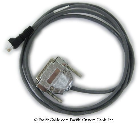 522060 SER-7000 Series Ports 2-4 To CAS PD-1 Scale. RJ45 To DB25 Male. CRS Cable. (Custom)