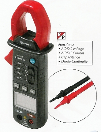 602-115 3 3/4 Mini Auto Range Digital Clamp-On Meter