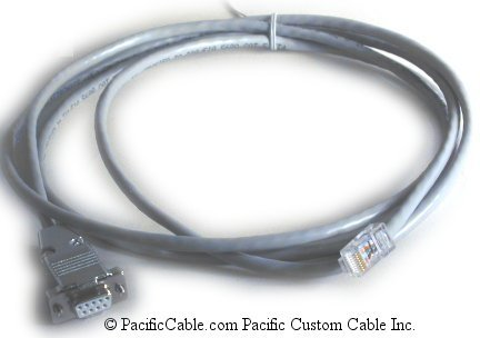 7446-0033-5 (7446-0033) Silver Series Plus (COM1) To Modicon Micro, Momentum, or Compact - RS-232. DB9 Female To RJ45. Maple Systems Cable. (Custom)