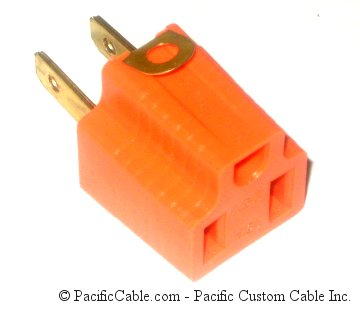 905-100 AC Grounding Adapter. Type A Male To Type B Female.