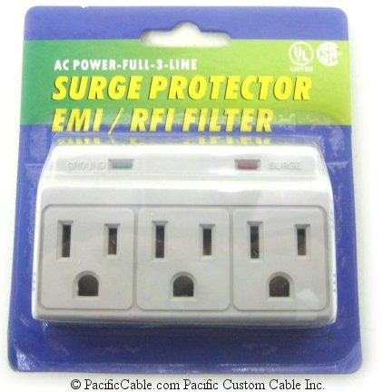 905-304 3-Outlet 270J Plug-In Surge Protector