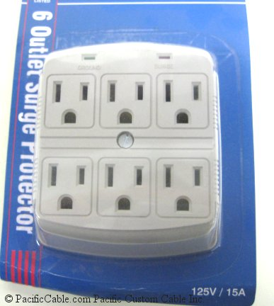 905-307 6-Outlet 270J Plug-In Surge Protector