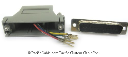 A25M12 D25 Male To RJ12 (6 Wire)