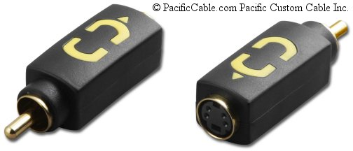 AD-SVHSF-RCA Super VHS Jack to RCA Male (Plug) Composite Video Adapter