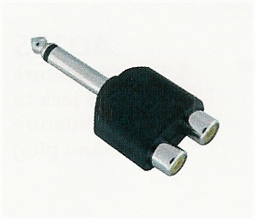 AD124 2 RCA Female (Jack) To 1/4 Inch Mono Male (Plug)