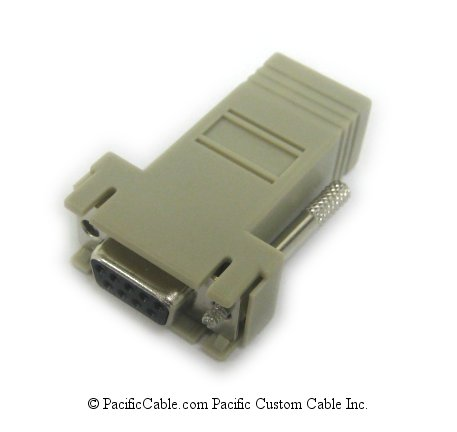 ADB0036 RJ45 Female to DB9 Female Crossover Adapter. Cyclades Adapter. (Custom)