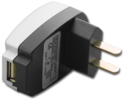 ADL-USB-RCHGR 110 Volts Wall Plug to USB A Female Power Adapter