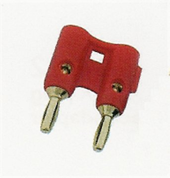 AG111R Gold Plated Double Banana Plug - Red - 10 Pack