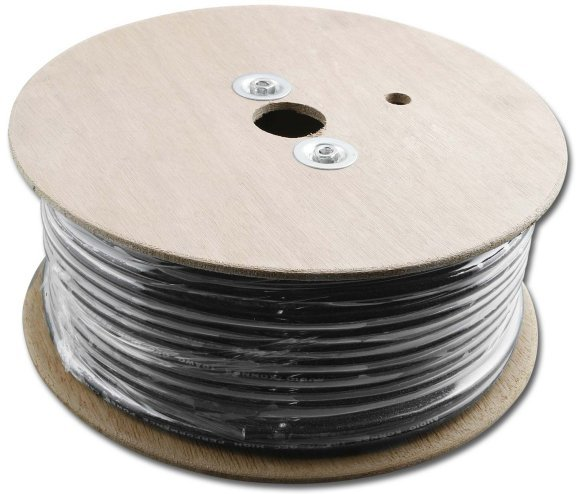 AKP-04BK-250 4 AWG Solid Black Audio Wire 250 Ft.