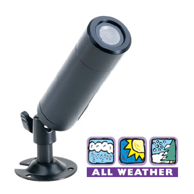 BB1031 Bullet Camera, Weather Proof B.W with Standard Lens & Mounting.  Special Order. Non-Returnable.