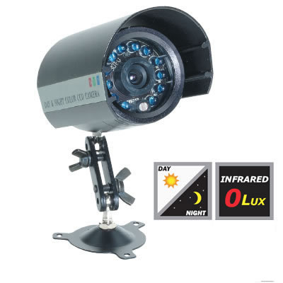 BC2035H IR Color Bullet Camera, Weather Proof, 420 Lines @ o lux (IR 30 Ft.)with Bracket & Sun Shade 3.6mm lens. Special Order. Non-Returnable.