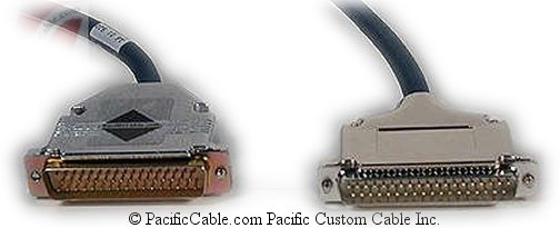 BC27A D50 Male - D37 Male. Line Printer Cable. DEC Cable. (Custom)