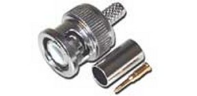 BC58P RG58 BNC Male (Plug) 3 piece crimp on connector