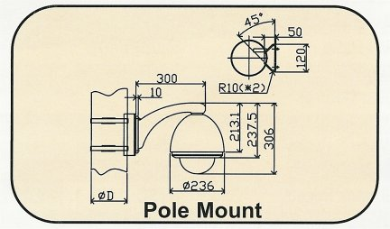 BE-B-Adapter_Drawing Pole Mount Bracket Adapter. Special Order. Non-Returnable.
