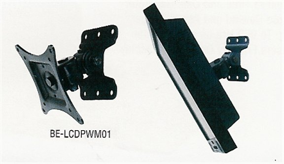 BE-LCDPWM01 Wall Mount Bracket for LCD Monitor. Fully Adjustable. Special Order. Non-Returnable.