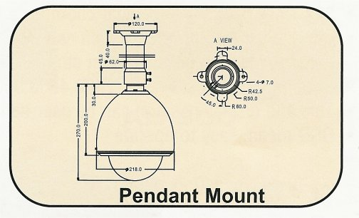 BE-Pendant_Drawing Pendant Mount Bracket. Special Order. Non-Returnable.