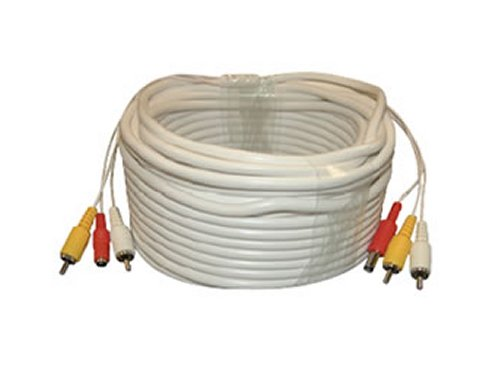 BP0013 2 RCA Male (Plug) & DC Female to 2 RCA Male (Plug) & DC Female Video and Power Siamese Cable 60 Ft. Special Order. Non-Returnable.