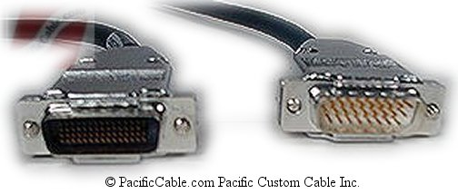 CAB-2660X-10 Cisco 2500 DCE To Cisco AGS DTE Crossover LFH 60 Male ( DB60 Male ) To HD26 Male 10 FT. (Custom)