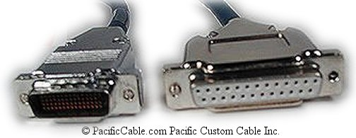 CAB-6025I-10 Cisco 2500 To IBM 3174 CONTROLLER LFH 60 Male ( DB60 Male ) To D25 Female 10 ft. (Custom)