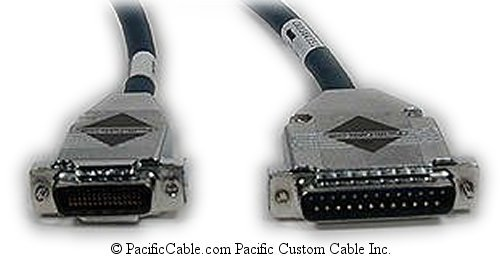 CAB-6025P Cisco 2500 DTE To Paradyne Acculink742 V.35 Channel. HD60 Male To DB25 Male. Cisco Cable. (Custom)