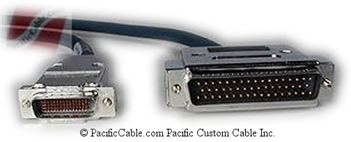 CAB-6050X-10 Cisco 2500 DTE To Cisco 3K or 4K DCE LFH 60 Male ( DB60 Male ) To D50 Male 10 FT. (Custom)