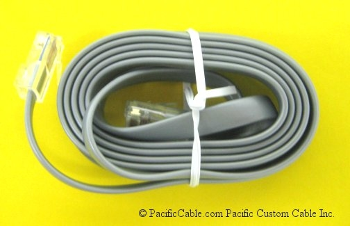 CBLRLC04 RJ45  To RJ45 8 Wire Silver Satin. G3 / Modular Controller / DRRJ45T8. Red Lion Cable. (Custom)