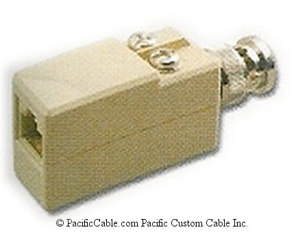DC-1A45-2178 BNC Male (Plug) To RJ45 Female. Pins 2,1. 93 Ohm Balun.
