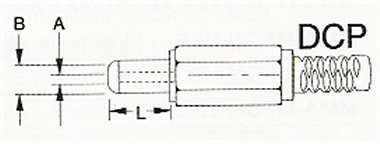 DC-Plug_Diagram 1.3mm ID, 3.5mm OD DC Plug Assembly 50 Pack