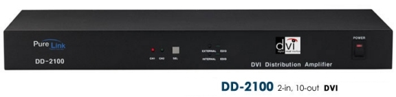 DD-2100 2 DVI Inputs to 10 DVI Outputs. HDCP Compliant.