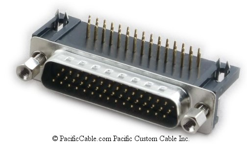 DHR-H44PR-D PCB HD44 Male Right Angle .350 Connector 10 Pack
