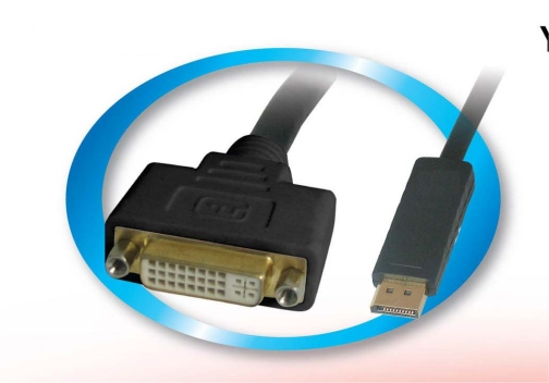 DPDVIF DisplayPort Male To DVI Female - .2 Meters (7.87 Inches)